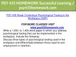 psy 435 homework successful learning 11