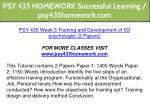 psy 435 homework successful learning 13