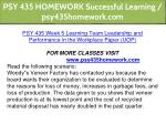 psy 435 homework successful learning 21