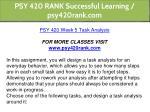 psy 420 rank successful learning psy420rank com 13