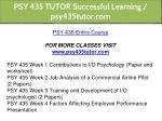 psy 435 tutor successful learning psy435tutor com 1