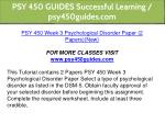 psy 450 guides successful learning psy450guides 12