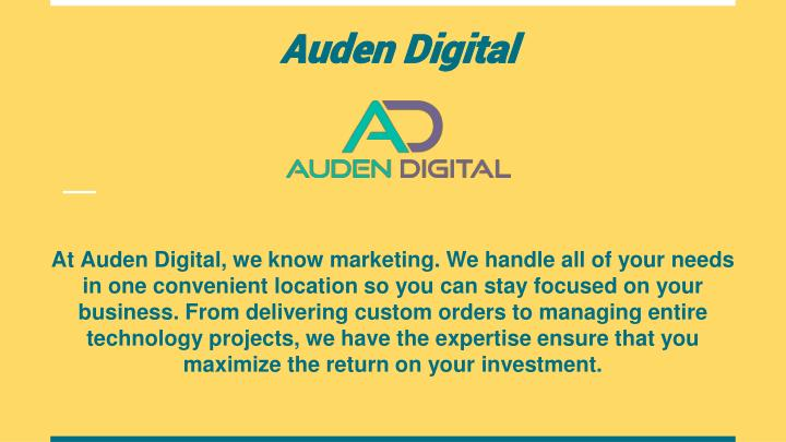 auden digital n.