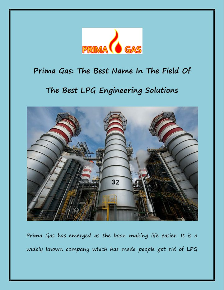 prima gas the best name in the field of n.