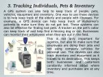3 tracking individuals pets inventory