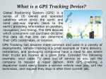 what is a gps tracking device