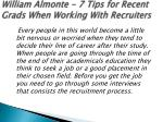 william almonte 7 tips for recent grads when working with recruiters 1
