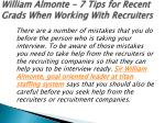 william almonte 7 tips for recent grads when working with recruiters 2