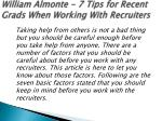 william almonte 7 tips for recent grads when working with recruiters 3