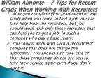 william almonte 7 tips for recent grads when working with recruiters 4