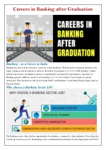 careers in banking after graduation