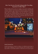 how taxi services provide unforgettable