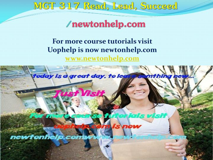 mgt 317 read lead succeed newtonhelp com n.