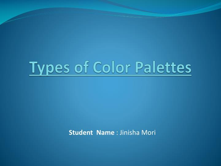 types of color palettes n.