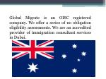 global migrate is an oisc registered company