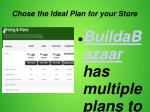 chose the ideal plan for your store