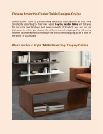 choose from the center table designs online