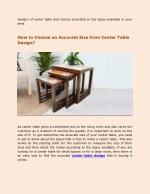 designs of center table and choose according