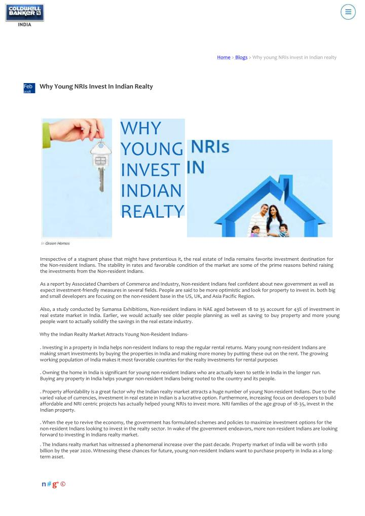 home blogs why young nris invest in indian realty n.