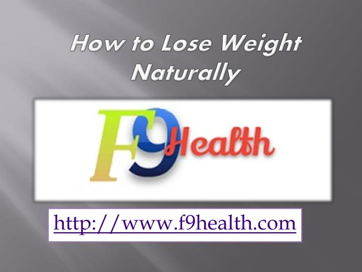 how to lose weight naturally n.