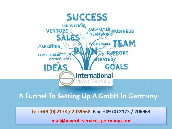 a funnel to setting up a gmbh in germany n.