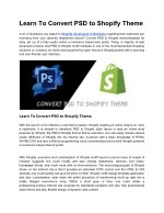 learn to convert psd to shopify theme