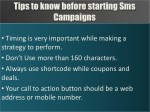 tips to know before starting sms campaigns