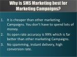 why is sms marketing best for marketing campaigns