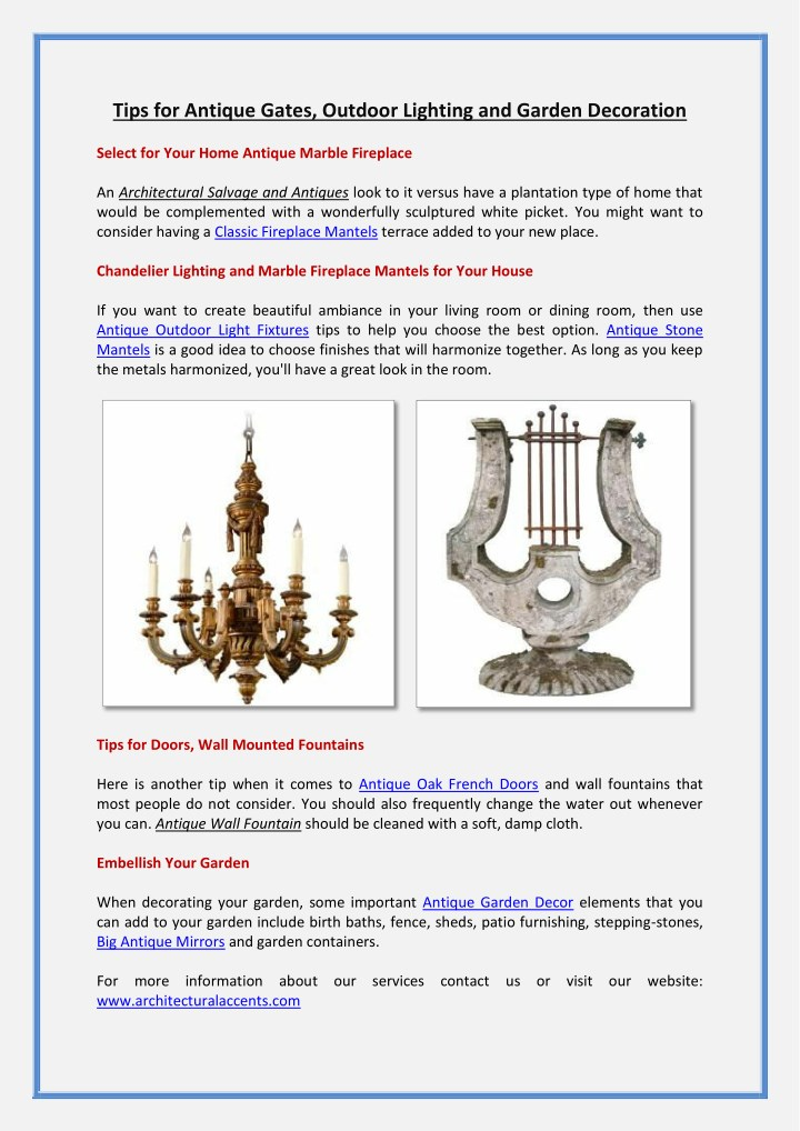 tips for antique gates outdoor lighting n.