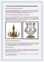 tips for antique gates outdoor lighting