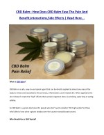 cbd balm how does cbd balm ease the pain and