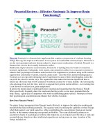 piracetol reviews effective nootropic to improve
