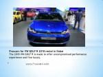proxcars for vw golf r 2018 rental in dubai