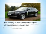 range rover vogue car rental in dubai from prox