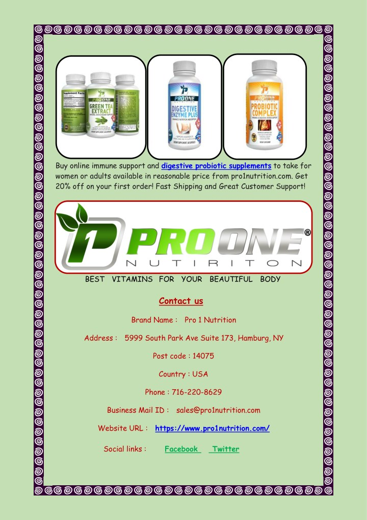 buy online immune support and digestive probiotic n.