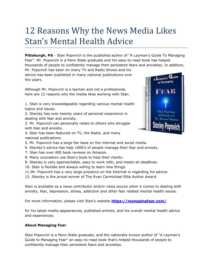 12 reasons why the news media likes stan s mental n.