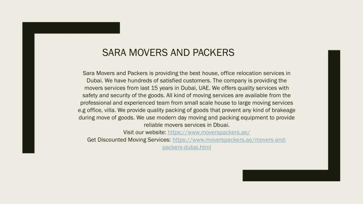 sara movers and packers n.