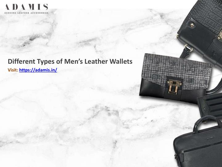 different types of men s leather wallets visit https adamis in n.