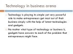 technology in business arena
