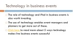 technology in business events