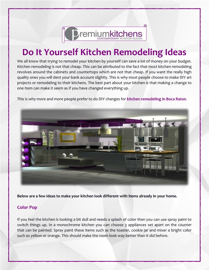 do it yourself kitchen remodeling ideas n.