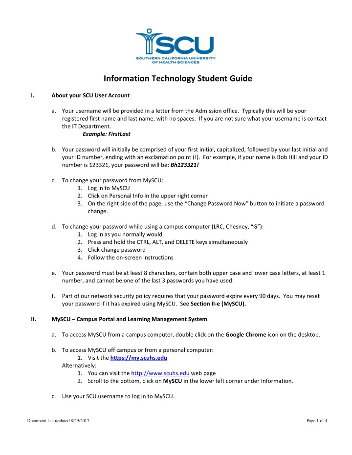information technology student guide about your n.