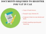 documents required to register for vat in uae