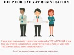 help for uae vat registration