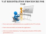 vat registration procedure for uae
