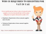 who is required to register for vat in uae