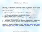 toilet cleaning in melbourne 1