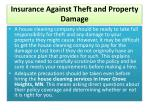 insurance against theft and property damage