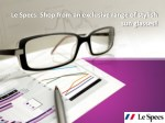 le specs shop from an exclusive range of stylish