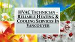 hvac technician reliable heating cooling services in vancouver